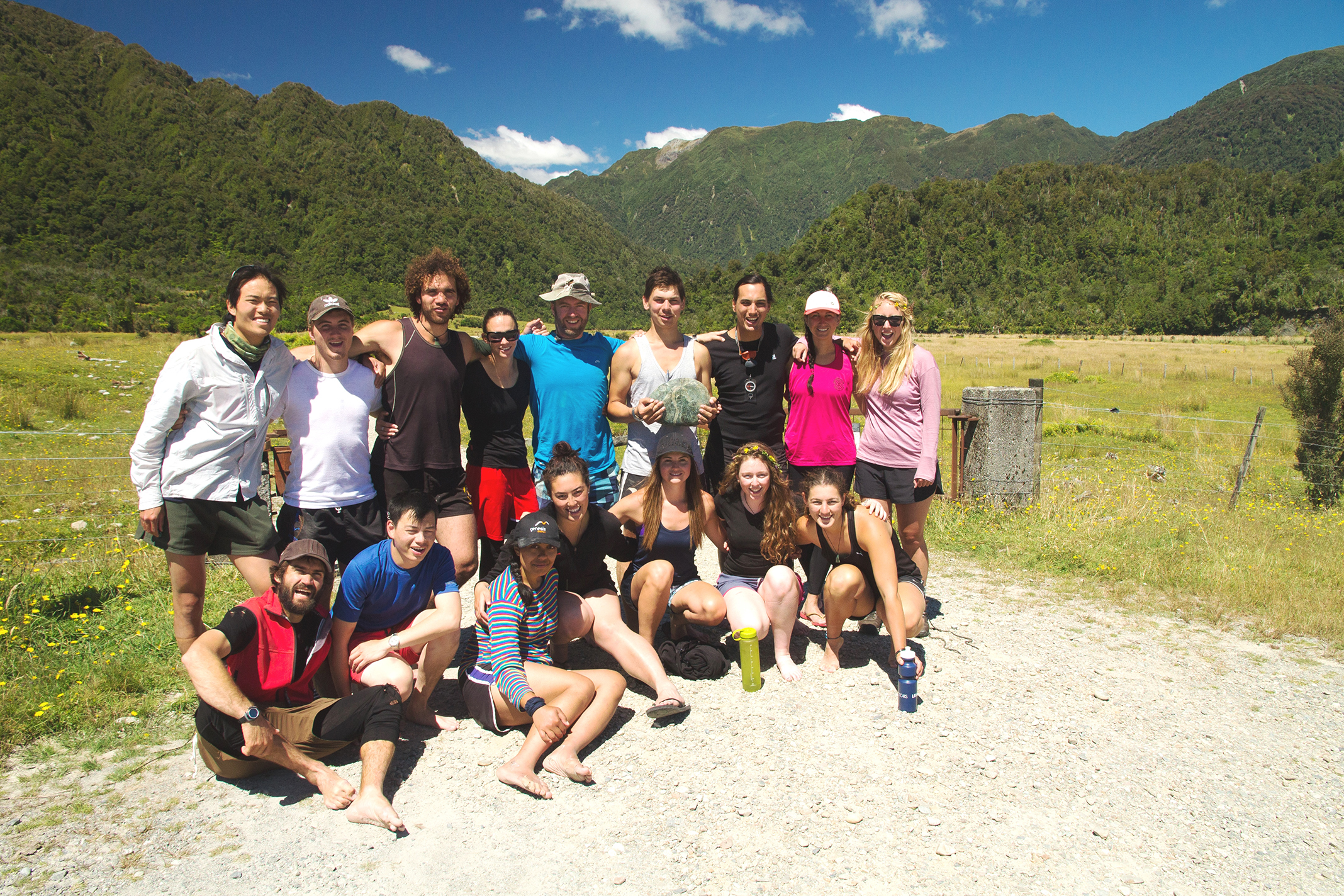 00 Kupe 602 after they conquered a four-day tramp around the Arahura Valley.