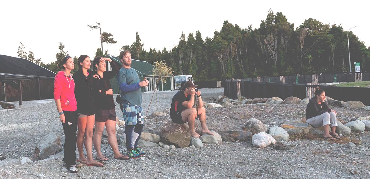 00 Kupe 602 members watch a sunset during their stay at Tūhuru Marae, Arahura.