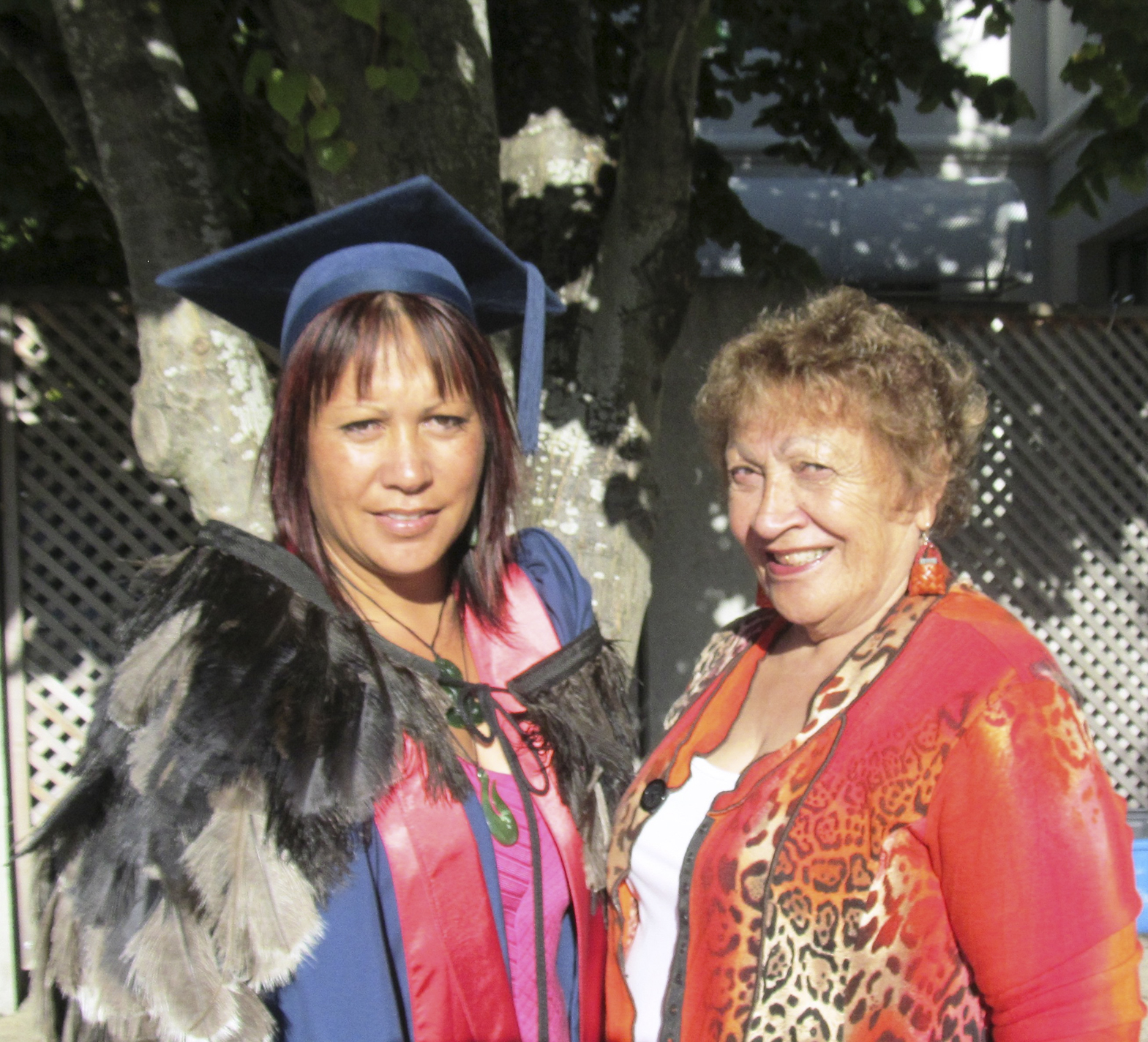 Vania with her proud mother on graduation day.