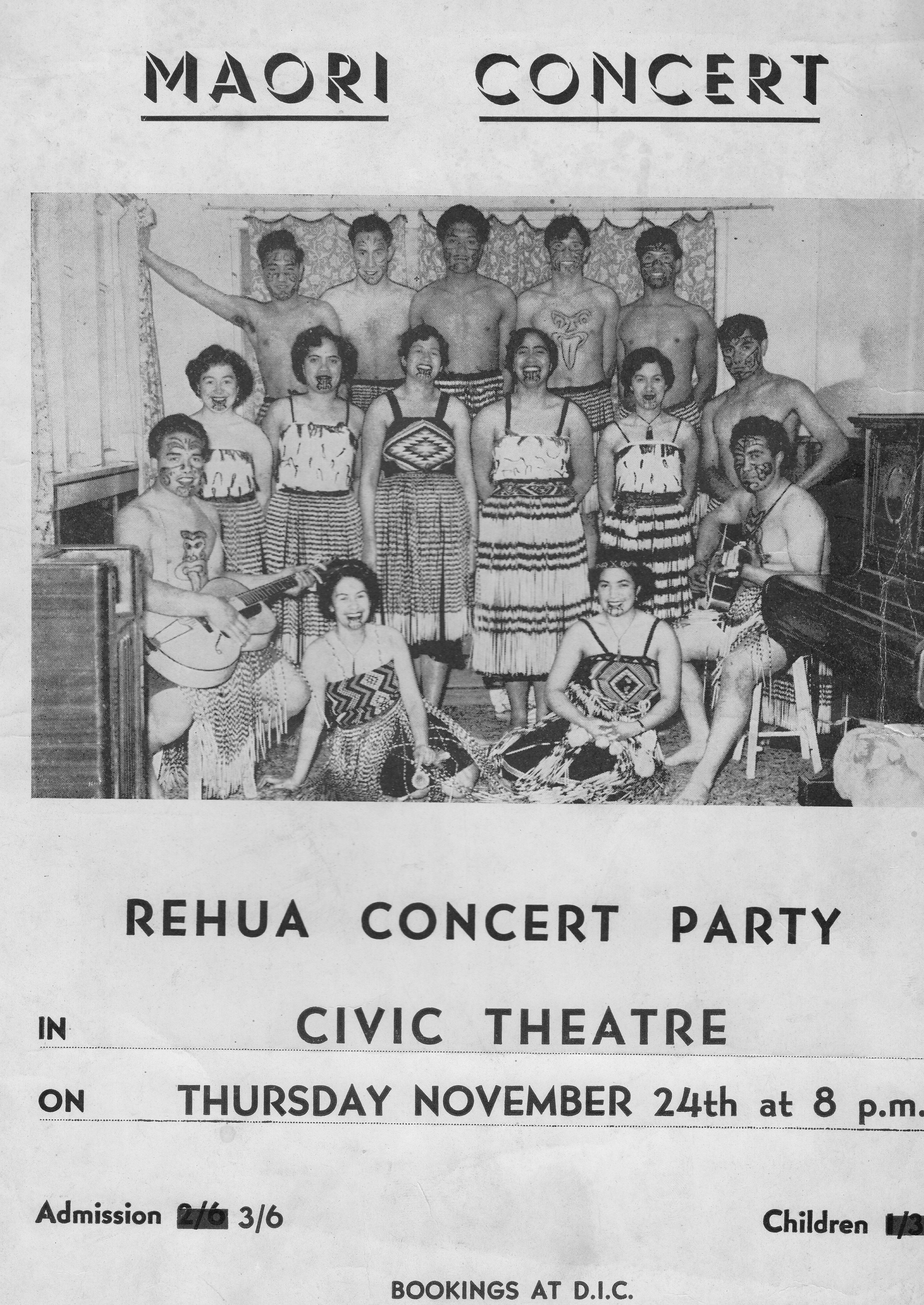 1950s Maori Concert, Rehua Archive, Box 52