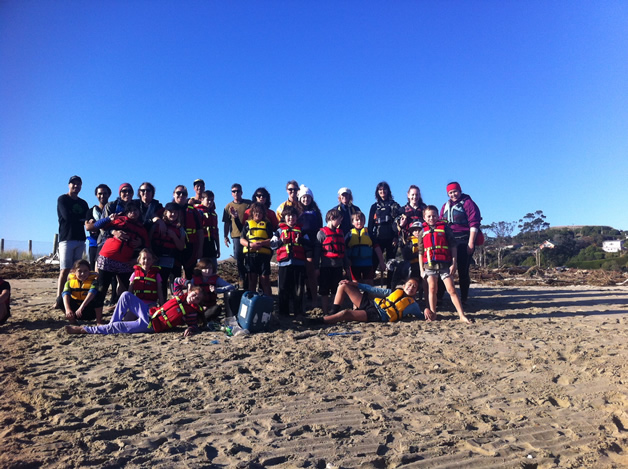 A snap of whānau who went out on the water.