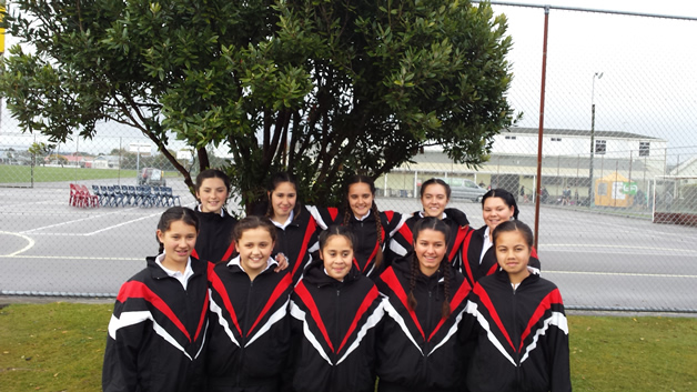 A team of Pipiwharauroa Netball Club players.