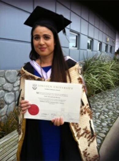 Amy Beran, recent graduate of Lincoln University.