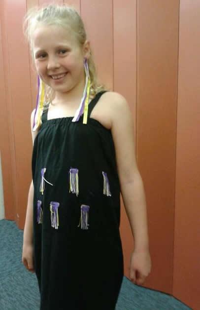 Annalise Rickey dressed for Mana Tū Day.