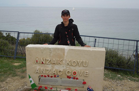 Anton Overy at ANZAC Cove.