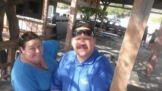 Aroha Ellison and Zack Makoare braving the heat in Hawaii.