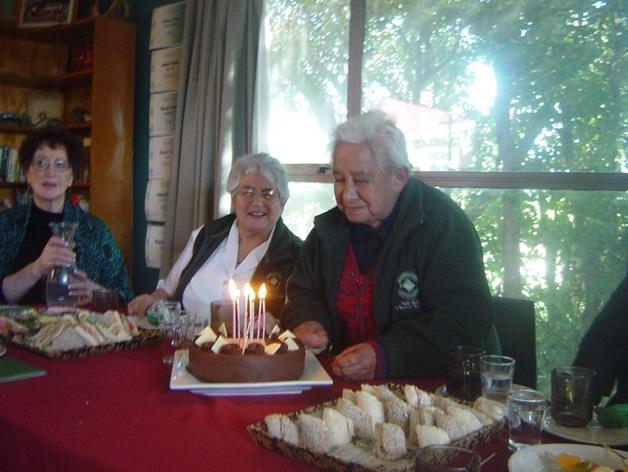 Aunty Ake celebrating her birthday.