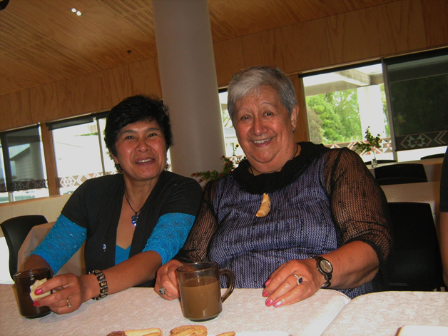 Aunty Aroha and Amelia.
