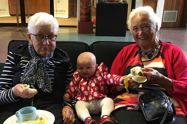 Aunty Dimp, Leila Gardner and Aunty Echo.