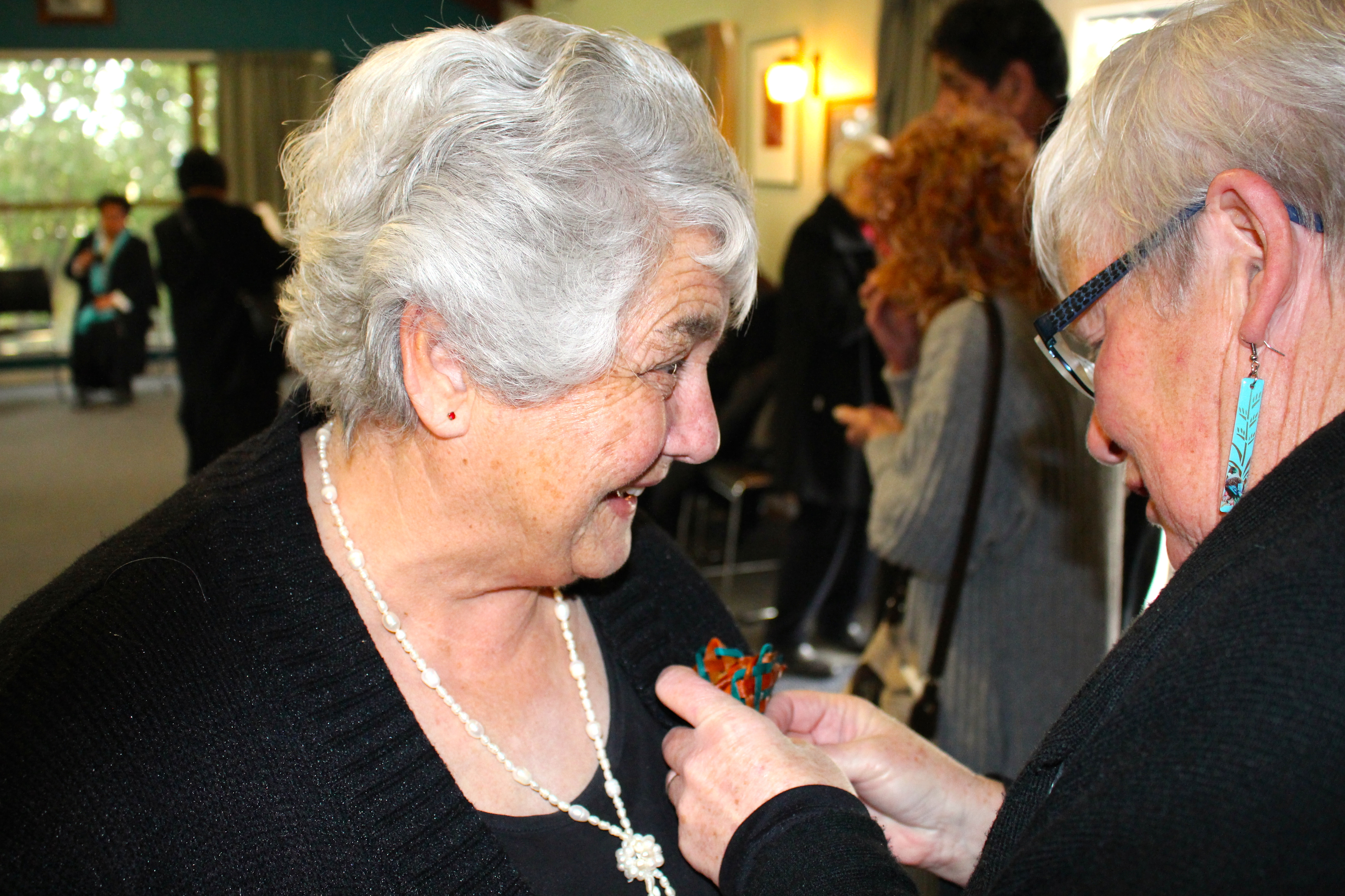 Aunty Marg Jones and Aunty Daphne O'Connell.