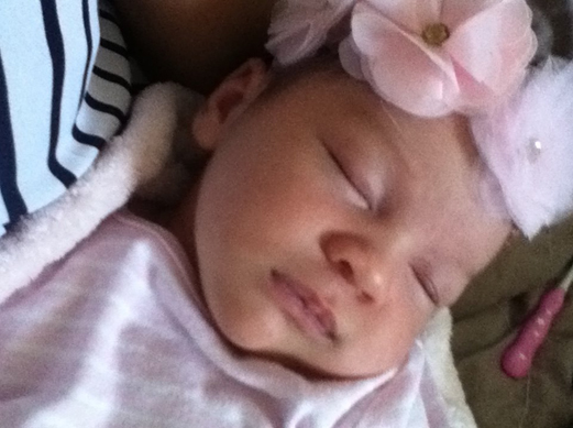 Baby Azayliah fast asleep.