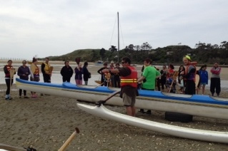 Brendan Flack gives a kōrero on water safety.