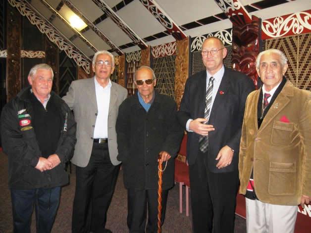 Bruce Pelham, Ngāi Tahu, Chairman Ngati Ranginui Iwi Huikakahu Kawe; Ngāitamarawaho Rangatira Morehu Ngatoko (MNZM), Tā Mark Solomon and Ngāi Tahu ki Tauranga Moana kaumātua Joe Briggs.