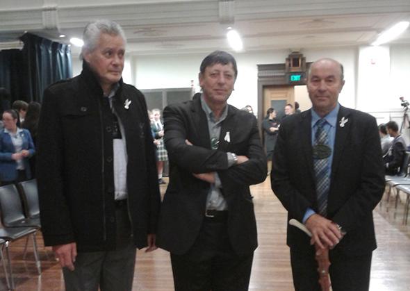 David Higgins, Matapura Ellison and Edward Ellison – our Araiteuru kaikōrero.