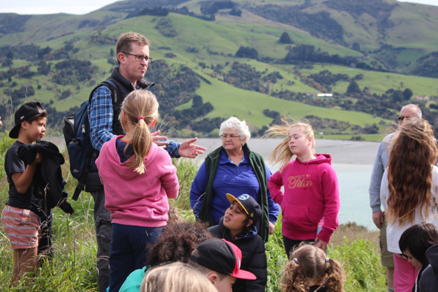 David Perenara-O'Connell talking about Ngāi Tahu occupation of Akaroa Harbour.