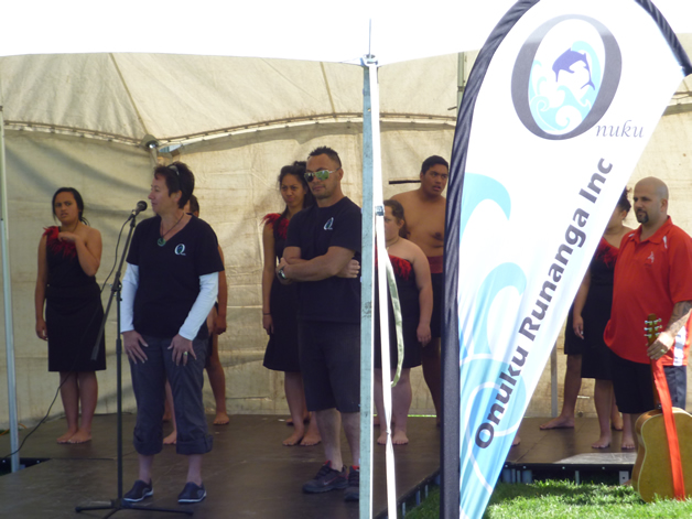 Donna Tainui and Nigel Robinson open the festival.