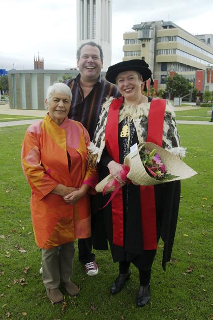 Dr Areta with her mum, Hui-A-Rei Jennifer Mary Wilkinson and brother, Jamie Jon Wilkinson.