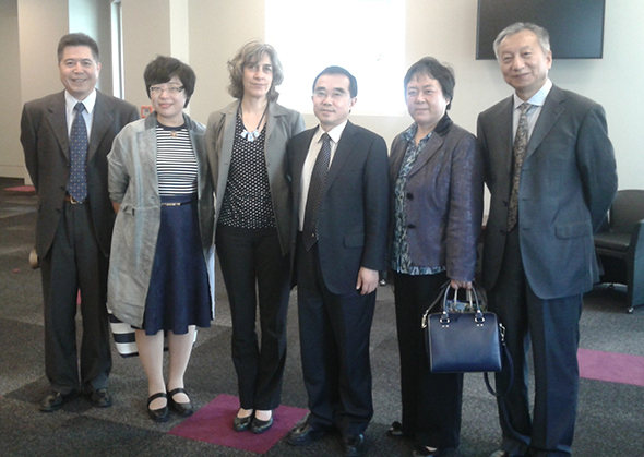 Dr Katharina Ruckstuhl (third from left) with members of the Shanghai delegation.