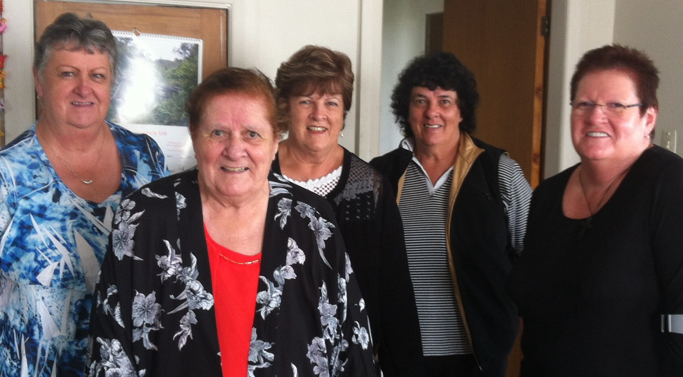Eileen Hutchison with some of her sisters.