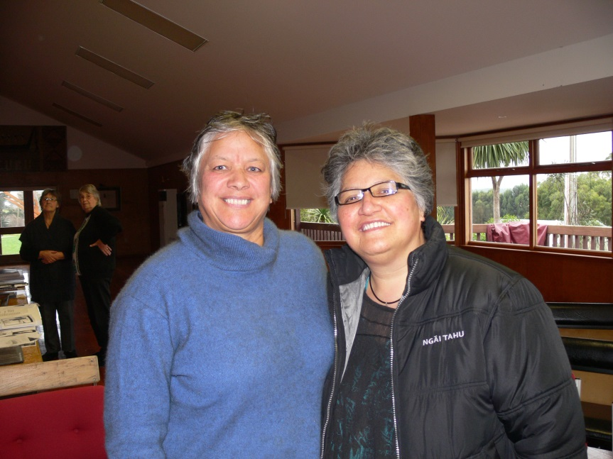 Elsie Ellison and Moana-o-Hinerangi at Whakapapa o te Whare