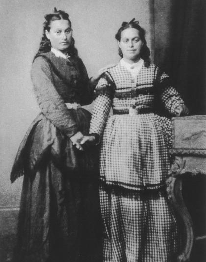 Front left; Emma and Maria Driver.
