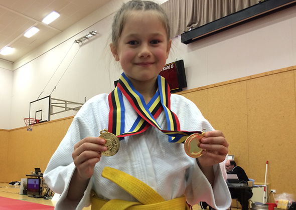 Esther the judo champion.
