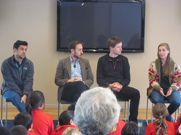 From left, Andrew Woodhead, Steve Toussaint, Max Porter and Eleanor Catton.