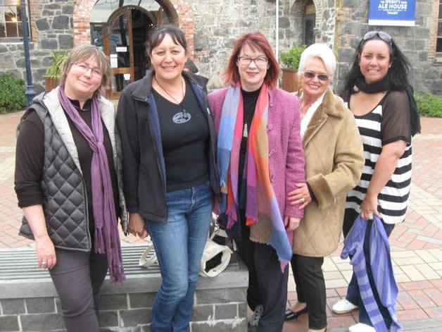From left, Anna Were, Kim Ellison, Annis Somerville, Jan Kawe, Michaela Kamo, in Timaru.