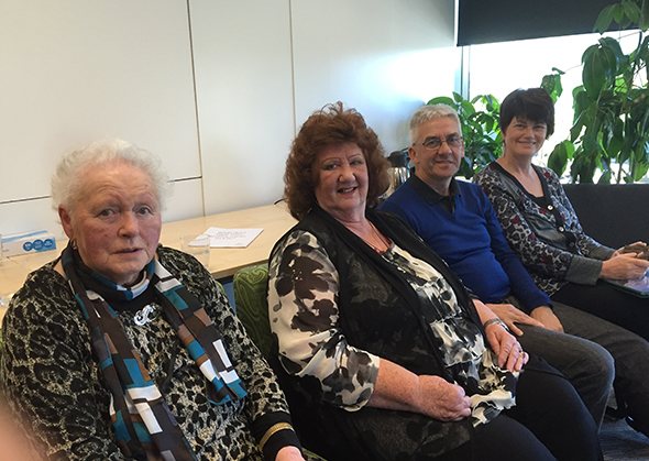 From left, Aunty Jane, Muriel, Riki and Monica at the hui.