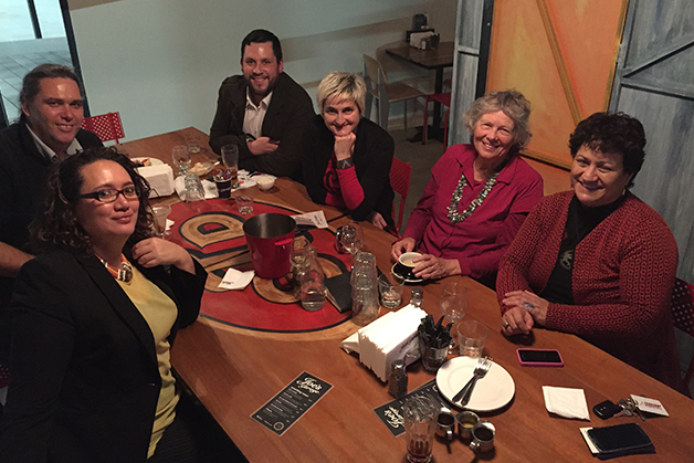 From left, Charisma Rangipunga, Darren Solomon, Corban Te Aika, Hana O'Regan, Leanne Hinton, Lynne-Harata Te Aika.