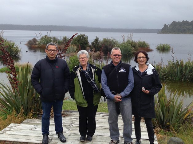 From left, Dean Whaanga, Louise Fowler, Bubba Thompson and Gail Thompson.