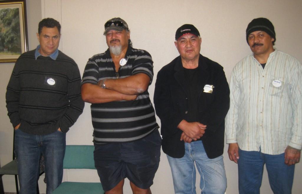 From left, Don Parkinson, Louis Mei, Philip Kemp and Buck Mei.