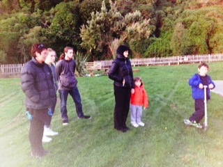 From left Donna Tainui with children Maddie and Finn, Reiana Tainui with grandchildren Barron and Branson.