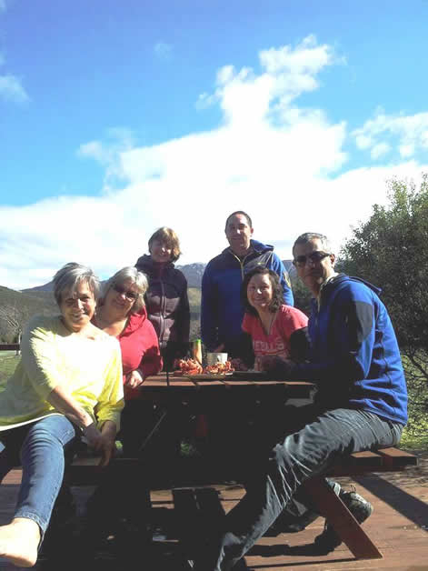 From left, Fern Whitau, Ann Martin, Tracey Wemyss, Brett Lee, Jodie Denton and Hayden Pohio at Āmuri.