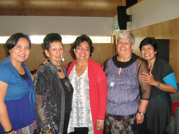 From left,  Imelda, Aunty Ila, Edith, Aunty Aroha  and Amelia.