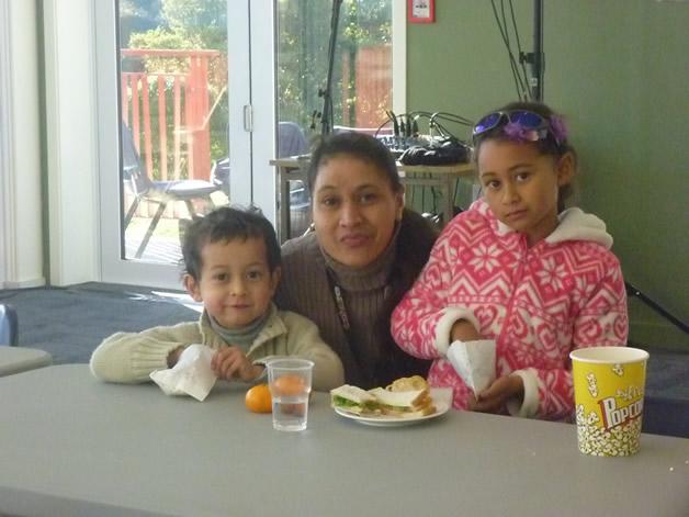 From left, Iwikau Te Aika, Mahana Paerata and Te Waipunahau Te Aika.