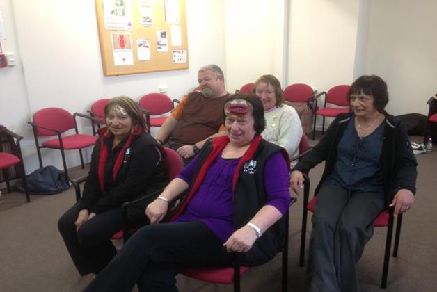 From left, Jacqui Gatward and Sharon Malofie.