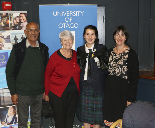 From Left; Jim Ellison, Robyne Ellison, Meghan Scanlan and Jane Ellison at the 2014 Mana Pounamu awards.