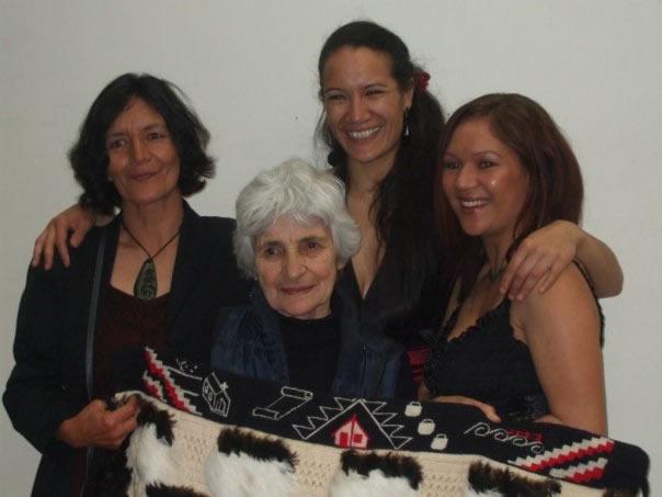 From left Juanita's mum Hapeti, her tāua the late Priscilla Stone, Juanita and her tuakana Jeni-leigh Walker when Juanita graduated from Toi Whakaari NZ Drama School.