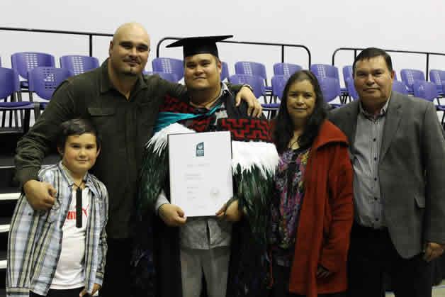 From left, Kaea Tomo, Paul Tomo, Maha Tomo, Hurihia Tomo née Taipana and Puaha Te Weita Tomo.