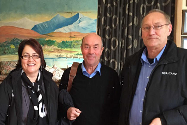 From left, Lisa Tumahai, Edward Ellison and Tā Mark Solomon.