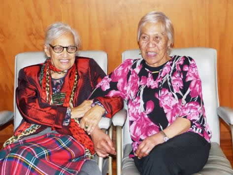 From left, Mahana Walsh and Lou Jarvis.