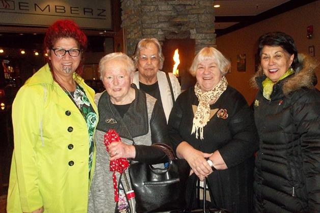 From left, Marcia Te Au-Thomson, Aunty Jane Davis, Betty Rickus, Shona Fordyce and Winsome Skerrett.