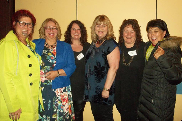 From left, Marcia Te Au-Thomson, Ora Barron, Helen Roskilley, Joanne Roskilley, Megan Roskilley and Winsome Skerrett.