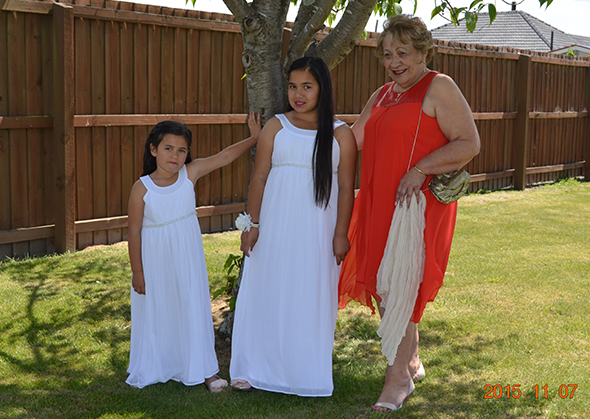 From left, Mary-Mateka Cox, Ātaahua Vania Pirini and Mateka Dawn Pirini.