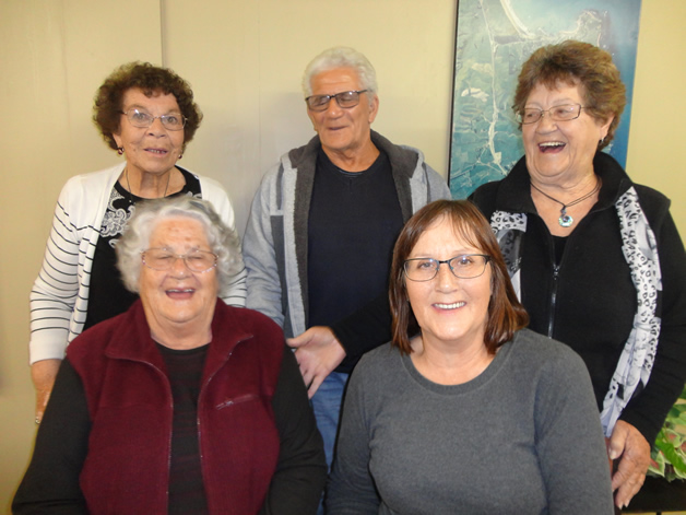 From left, Ngaire Coy, Arthur Miller, Bonnie Te Rei, Reita Mathews and Robyn Maguigan.