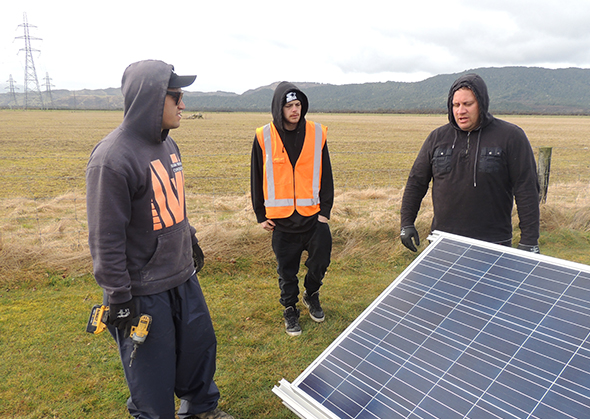 From left, Rahui Kapene, Alex Tini and Jason Harrison.