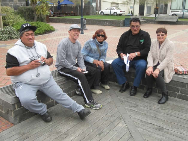 From left, Roger Canterbury, Alec Were, Haina, Brian Inia and Ollie Irving.