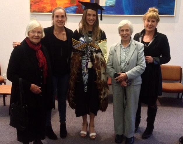 From left, Rose Brown, Rachel Robilliard, Bridget Robilliard, Robin Robilliard and Liz Brown.