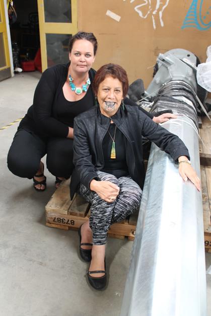 From left, Sumaria Beaton, general manager of Awarua Synergy Ltd and Hana Morgan, kaiwhakahaere of Te Rūnaka o Awarua.